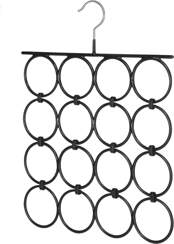 Whitmor 10 Hook Accessory Hanger Chrome Black 6021-189