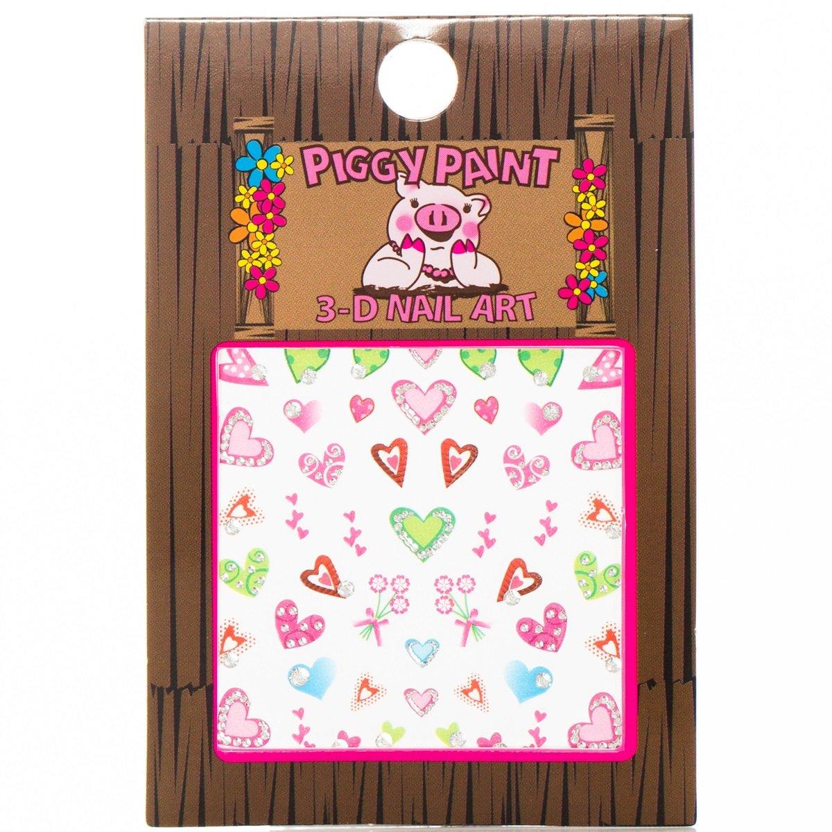 Piggy Paint 3-D Heart Nail Art, 1 Count 0902