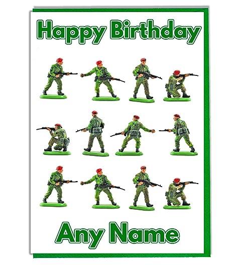 Militar Ejército soldados de personalizado tarjeta de ...