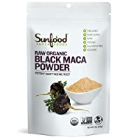 Sunfood Superfoods Black Maca Powder Raw, Organic. 4 oz Bag