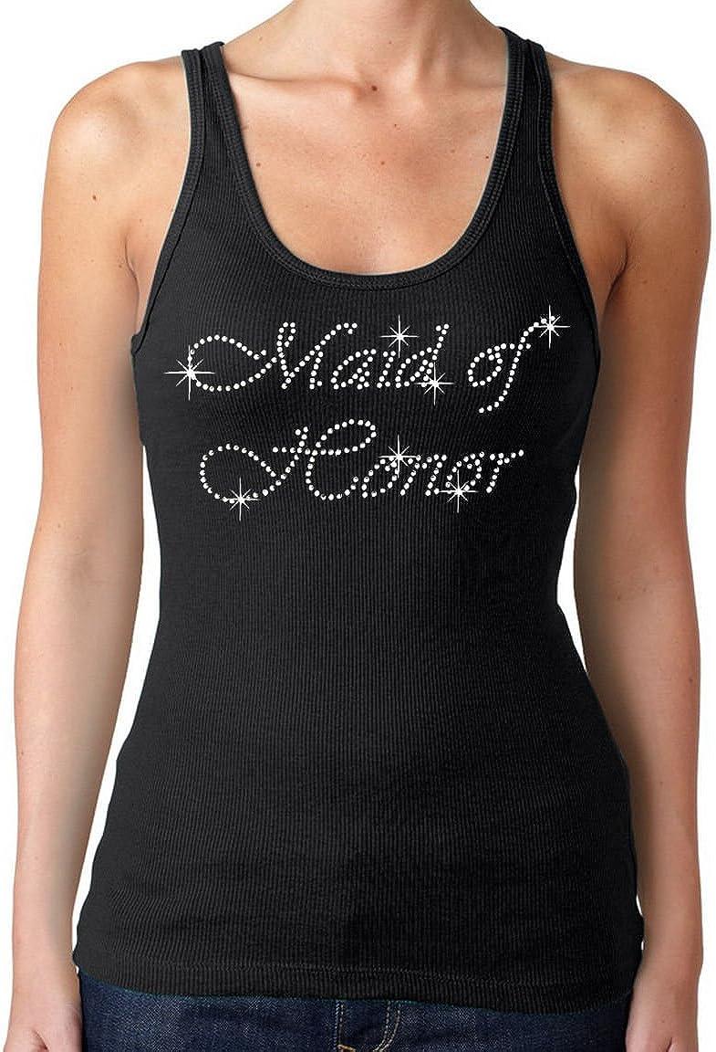 New Juniors Rhinestone MATRON OF HONOR Tank Top Shirt Bride Wedding Gift