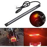 Rampe de phare arrière KaTur pour moto Harley Davidson, de 20,3cm, avec 32 LED 3528, clignotant et feux stop - S'adapte à la plaque d'immatriculation