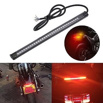 KaTur Harley Davidson - Tira de luz LED para Freno Trasero de Motocicleta, luz LED Flexible de 32 a 3528 de 8 Pulgadas: Amazon.es: Coche y moto