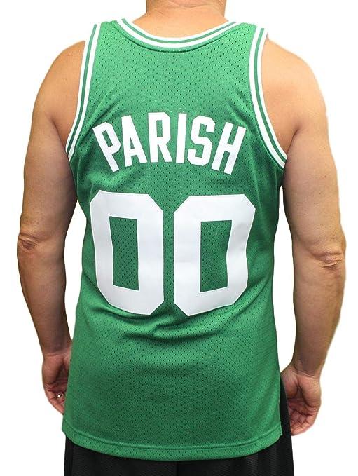 ab6eedc4251 Mitchell   Ness Robert Parish Boston Celtics NBA Swingman 85-86 Jersey -  Green  Amazon.co.uk  Sports   Outdoors