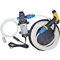 2RZ 12V 80W Portable Self-Priming Water Pump Kit, High Pressure Washer with Car Charger for Marine Deck, Car Campervan…