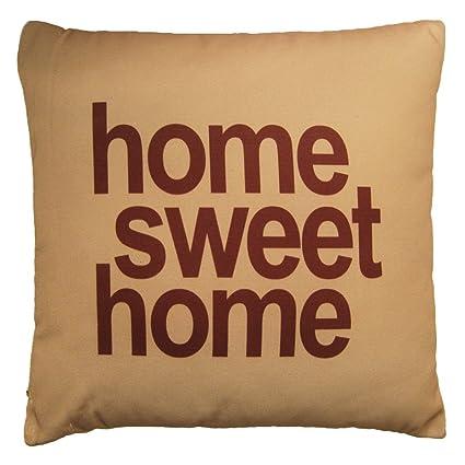 Meubletmoi Cojín Home Sweet Home - Funda 100% algodón, 1 ...