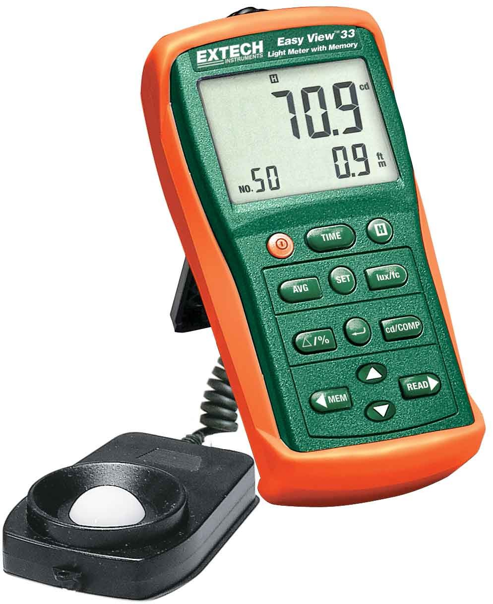 Extech EA33 Easy View Light Meter with Memory by Extech