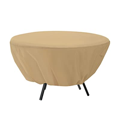 Classic Accessories Terrazzo Water-Resistant 50 Inch Round Patio Table Cover : Patio Furniture Covers : Garden & Outdoor