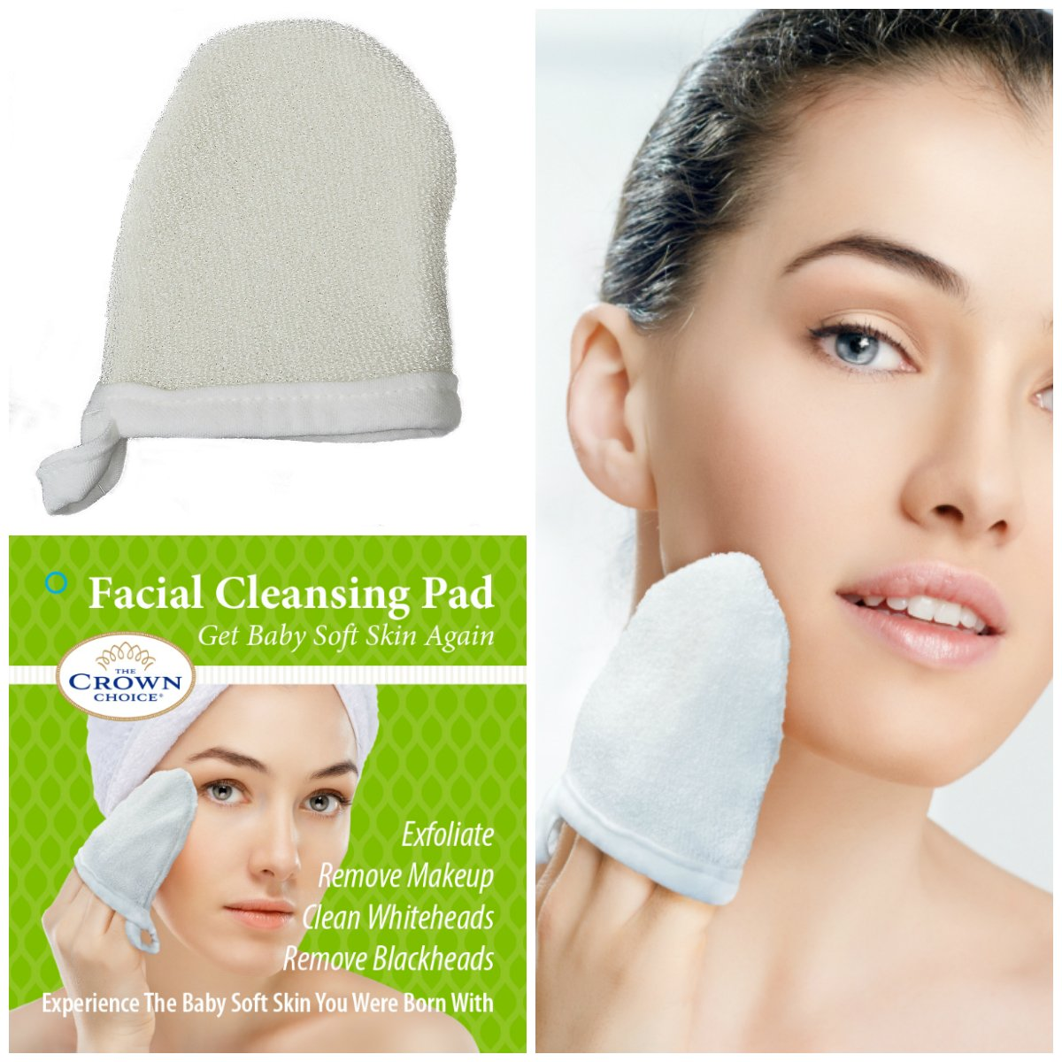 Natural Exfoliating Facial Scrubber Pad (1PK) | Durable Pore Cleansing and  Face Buff Puff Exfoliator |.