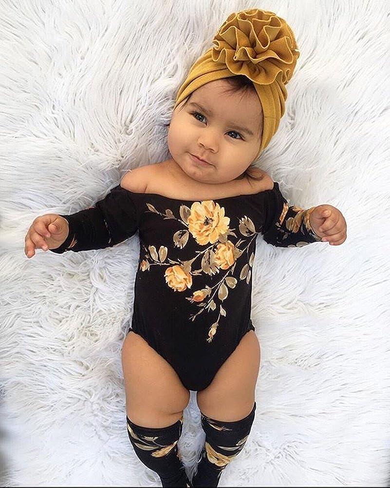 Baby Newborn Girl Flower Romper Bodysuit Jumpsuit Leg Warmer Outfits Clothes HOT