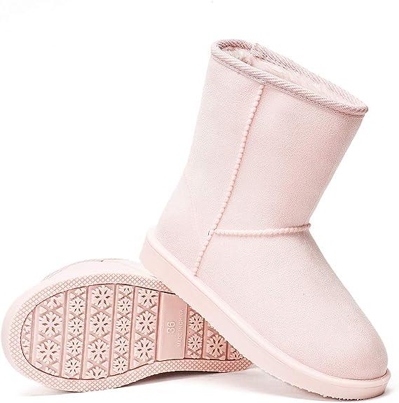 Stiefel 42eu Gefüttert Gummistiefel Wasserdicht Halbstiefel Schneestiefel Damen Boots Schlupfstiefel Dksuko 36 Winter … Klassisch Warm m0v8wONn