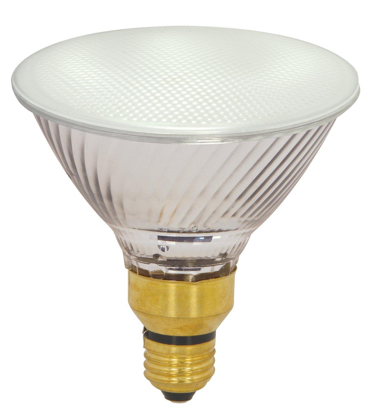 Satco Products S2259 80-Watt (120-Watt) 1600 Lumens PAR38 Halogen Flood 30-Degrees Clear Light Bulb, Dimmable