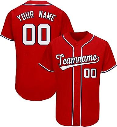 Custom Novelty Button-Down Baseball Jerseys Personalized Printed Baseball Shirt for Men/Women/Boy
