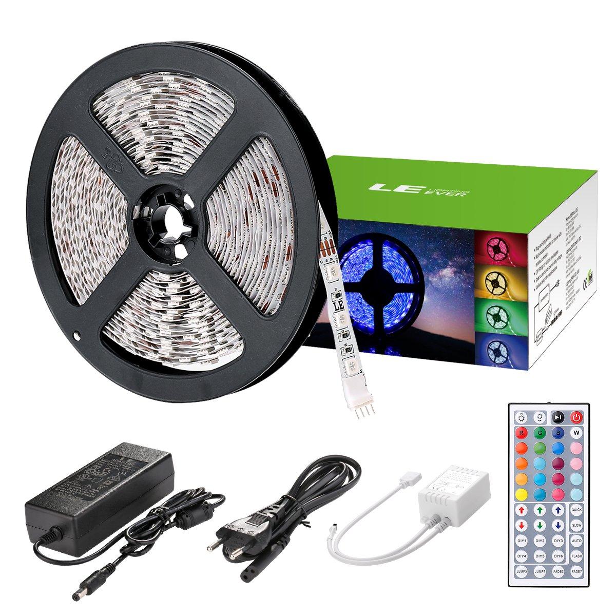 LE led strip 5m RGB Streifen Licherkette Leiste Set mit 300 LEDs ...