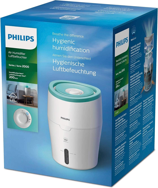 Philips HU4801//01 220-240 V, 249 mm, 249 mm, 339 mm, Verde, Blanco Humidificador