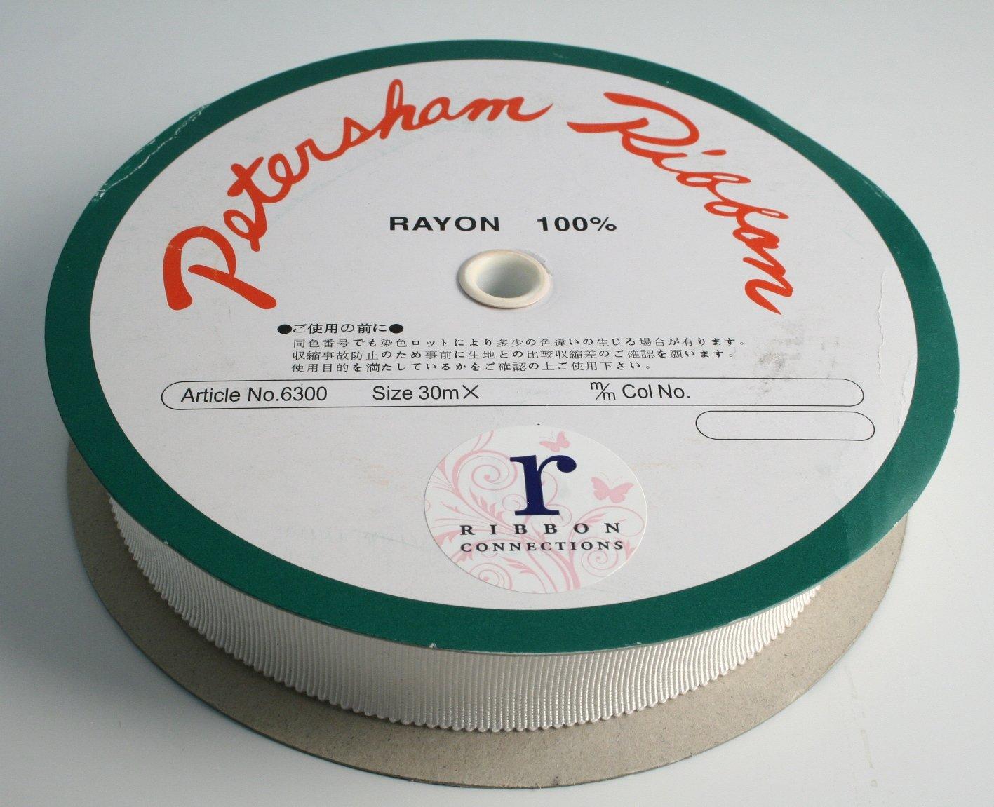 1-1/2''(36mm) 100% Rayon Petersham Ribbon 33yds (150 Natural) by Ribbon Connections (Image #2)
