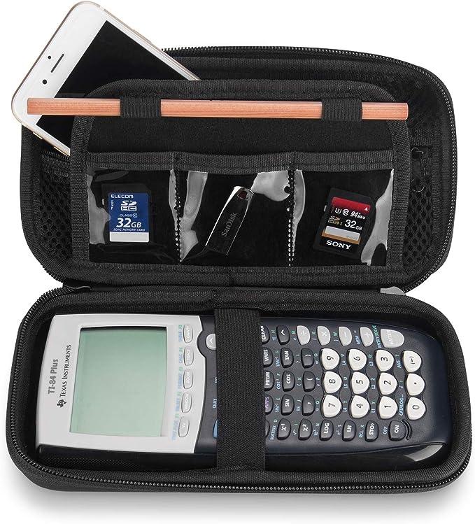 Funda para Calculadora Casio CG50 Ti-84/83/85/89/82 Plus/C CE Texas Instruments, ProCase Estuche Goma EVA Rígida de Viaje, Caja Portátil Protector Foamy Duro para Ti-84 Plus Calculadora -Negro: Amazon.es: Electrónica