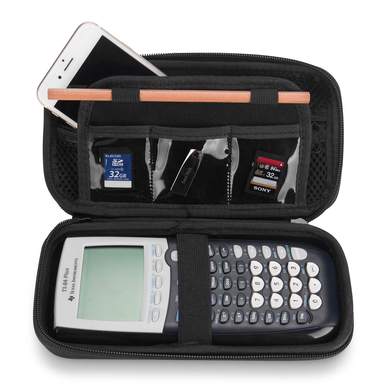 Coque ProCase Hard EVA pour Texas Instruments Ti-84 Plus, Durable Stockage de Voyage Housse de Protection pour Ti-84 Ti-83 Ti-85 Ti-89 Ti-82 Plus/C Calculatrice Graphique CE et Plus -Noir
