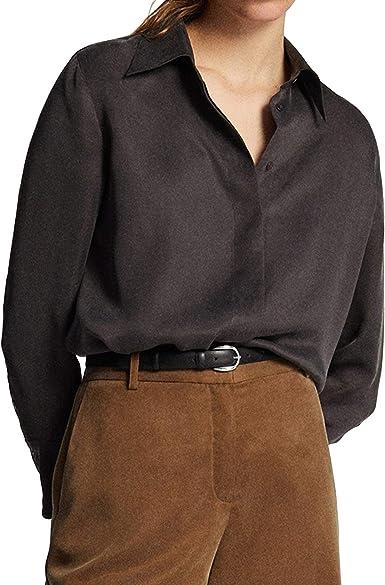 MASSIMO DUTTI 5159/534/818 - Camisa para Mujer Gris 44 ...