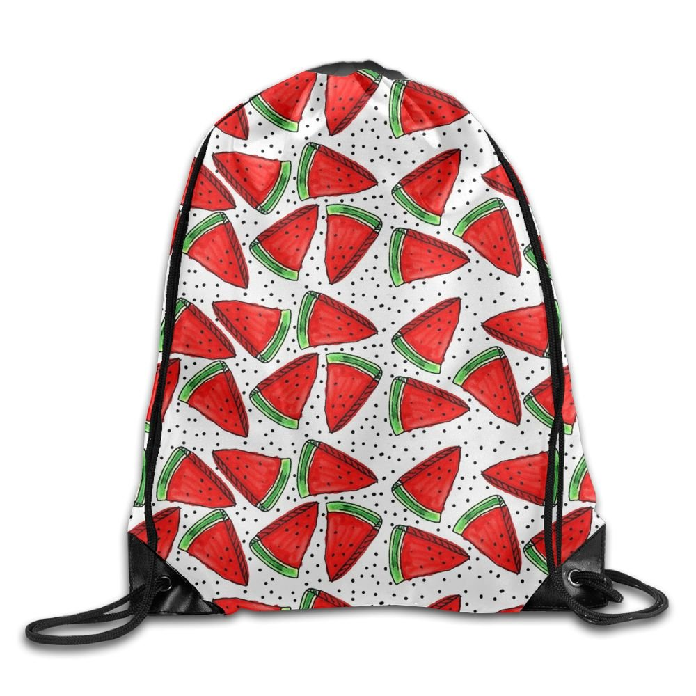 b6a79480381b09 low-cost Cartoon Watermelon Gym Sack Bag Drawstring Backpack School Travel  Backpack