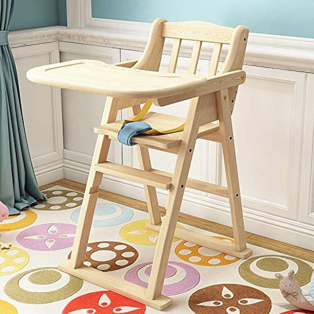 GZ Kinder, Die Stuhl Festes Holz-Freie Installation Multifunktions-Faltende (Nicht Justierbare Höhe) Baby-Lern-Sitzender Stuhl 1-4 Jahre Alt Speisen,Protokollfarbe,1