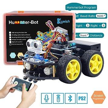 Kit de auto kit de robot inteligente Keywish para Arduino Hummer-Bot V2.0