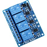 ELEGOO 4 Channel DC 5V Relay Module with Optocoupler for Arduino UNO R3 MEGA 1280 DSP ARM PIC AVR STM32 Raspberry Pi