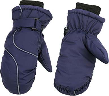 UK Winter Gloves Kids Boys Girls Skiing Mittens Warm Outdoor Thermal Waterproof