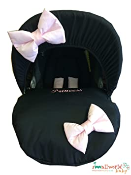 Personalised Pink Bling Baby Car Seat Cover