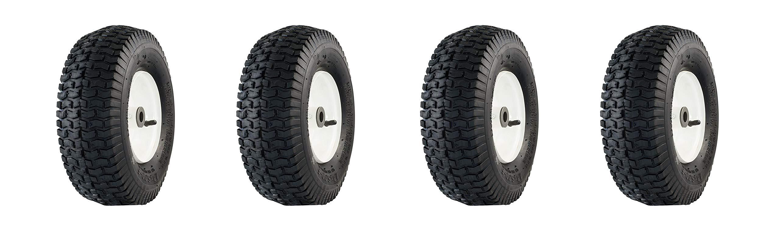 Marathon 13x5.00-6'' Pneumatic (Air Filled) Tire on Wheel, 3'' Hub, 3/4 Bushings (Pack of 4) by Marathon Industries