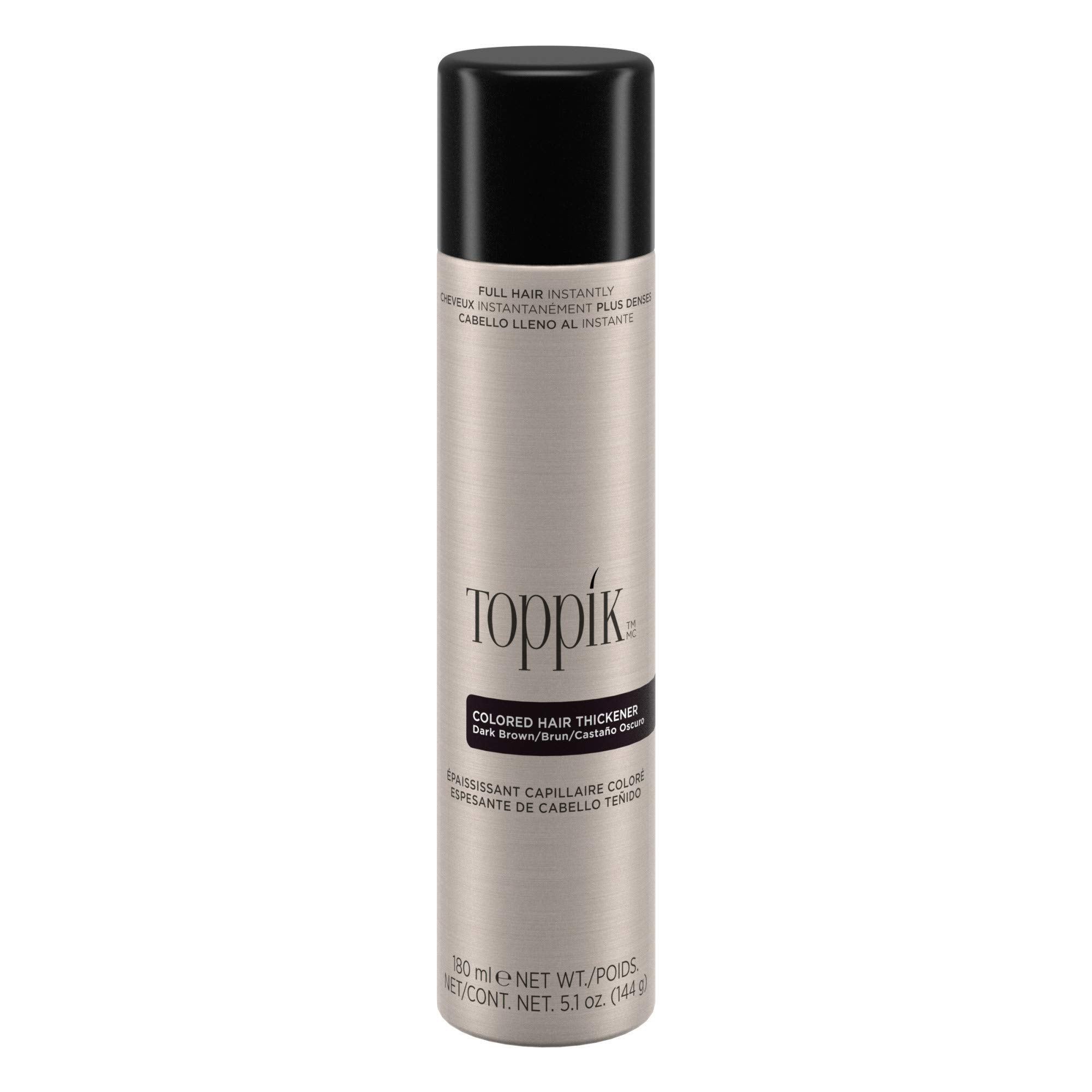 Toppik Colored Hair Thickener, Dark Brown, 5.1 OZ by TOPPIK