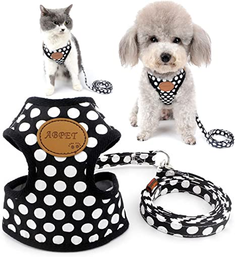 SELMAI Arnés para perro pequeño, juego de correa de lunares, malla ...