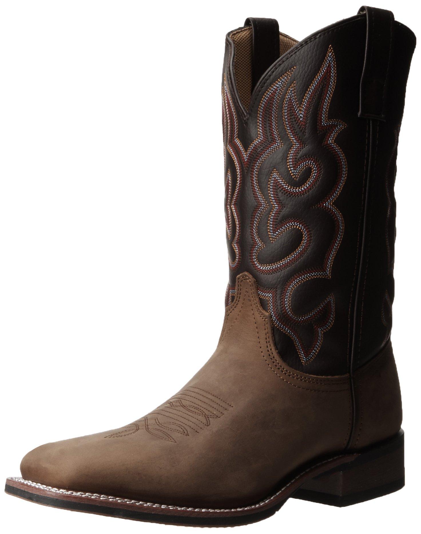Laredo Men's Lodi Western Boot,Taupe/Chocolate,7.5 D US