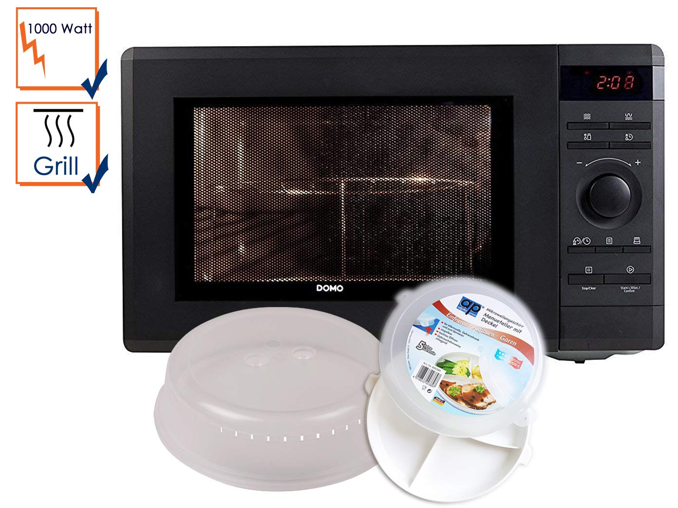 Microondas con grill 1000 W, Grill 1100 W, 36 L (Incluye 5 Piezas ...