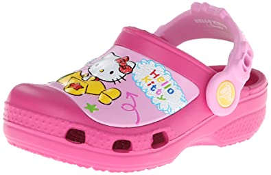 Crocs CC Hello Kitty Plane NA Clog (Toddler/Little Kid),Fuchsia,