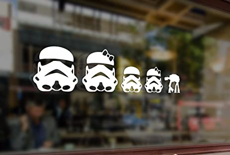 Amazoncom Cm Fun Stick Family Star Wars Stormtroopers Vinyl - Family decal stickers for carsamazoncom stick family stick family car window wall laptop decal