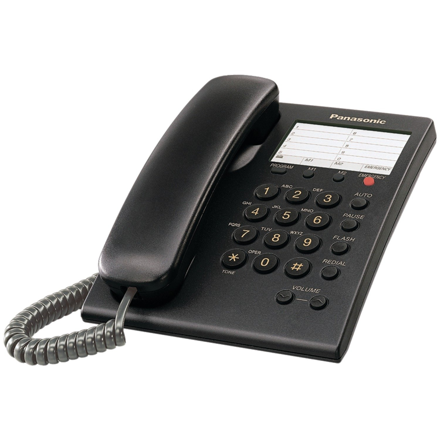 Panasonic KX-TS550B Integrated Corded Phone, Black