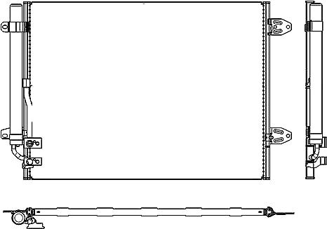 Condensateur Climatisation-Denso dcn32008