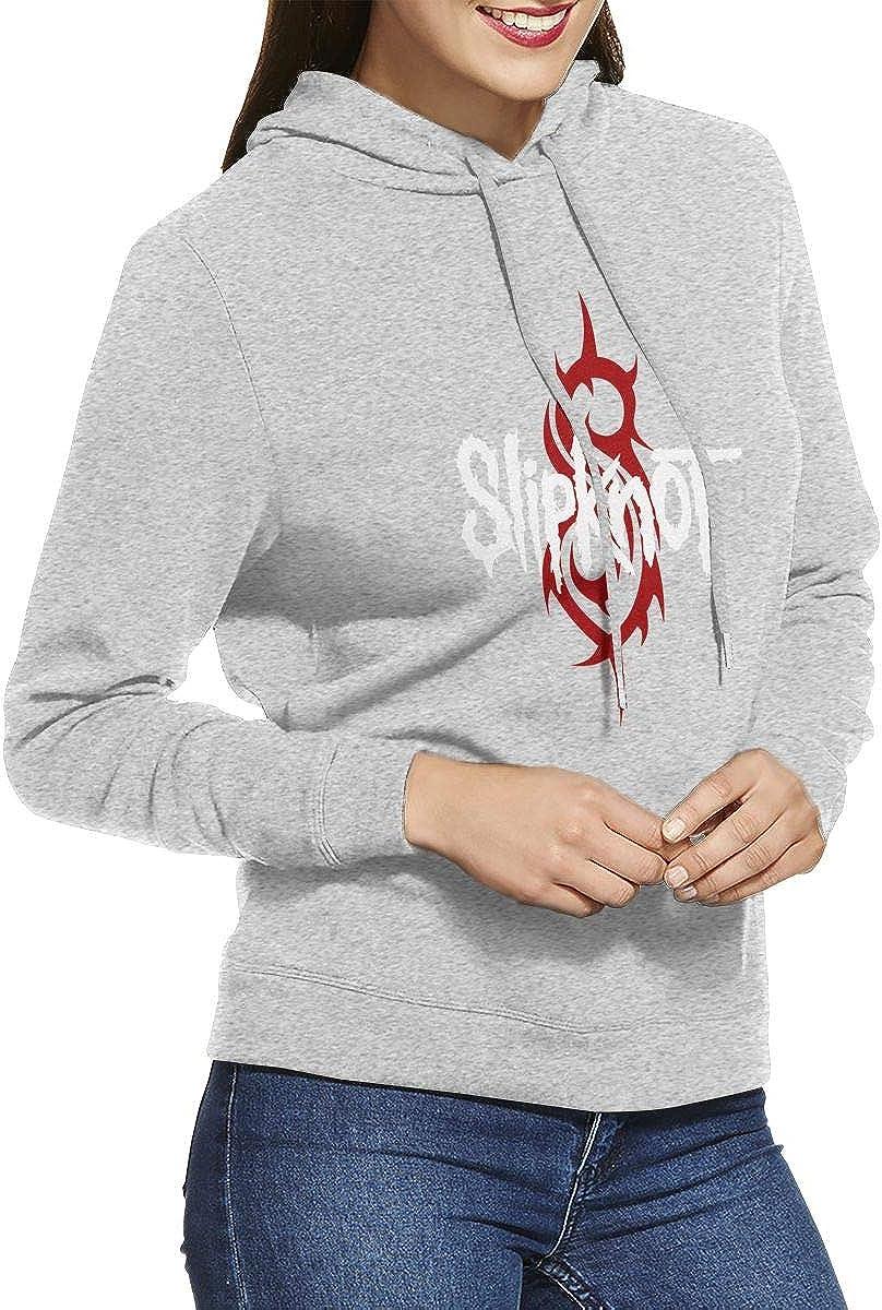 Feiye Adult Slipknot Logo Metal Rock Bands Womens Sweatshirt Hoodie
