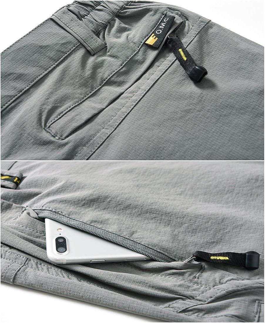 Rdruko Mens Outdoor Lightweight Waterproof Hiking Skiing Climbing Tactical Cargo Fleece Lined Pants with Belt