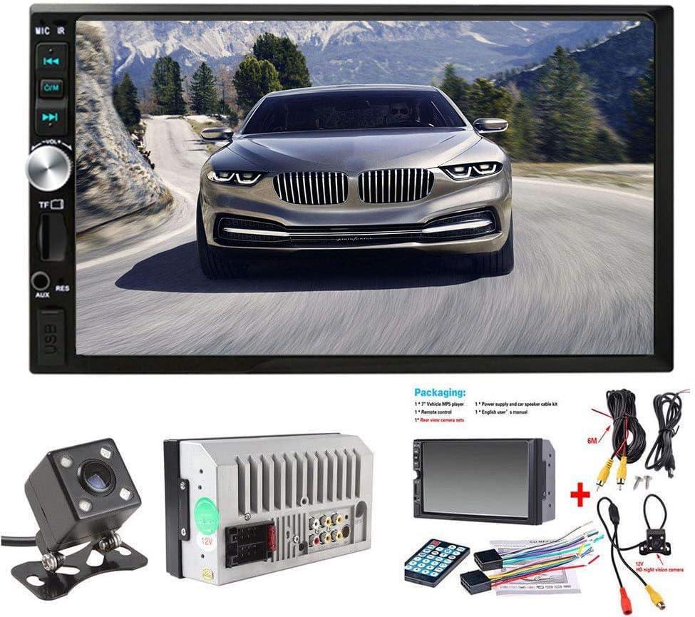 Doble DIN estéreo para Coche, Pantalla táctil de 7 Pulgadas, Radio de Coche MP3/MP5/FM, Compatible con Bluetooth/USB/TF con Mando a Distancia … (COLOR1)