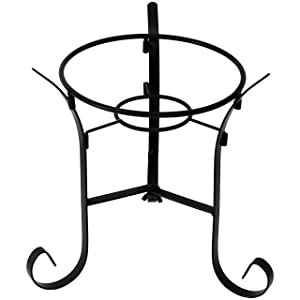 Sunnydaze Traditional Style Gazing Ball Stand for 10-Inch or 12-Inch Outdoor Garden Gazing Globes, Black Steel, 9-Inch Tall