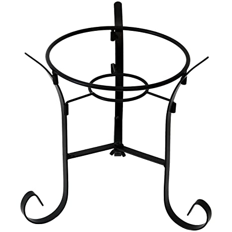 Sunnydaze Black Steel Traditional Style Outdoor Gazing Globe Stand For  10 Inch Or 12