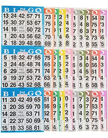 Bingo Cards Amazon Com Bingo Equipment