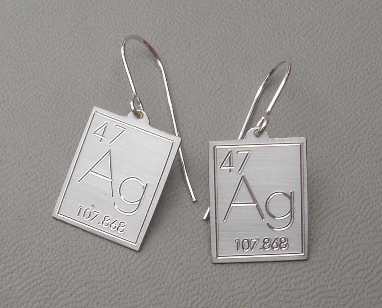 Amazon atomic symbol for silver earrings periodic table of amazon atomic symbol for silver earrings periodic table of elements science jewelry handmade gamestrikefo Gallery