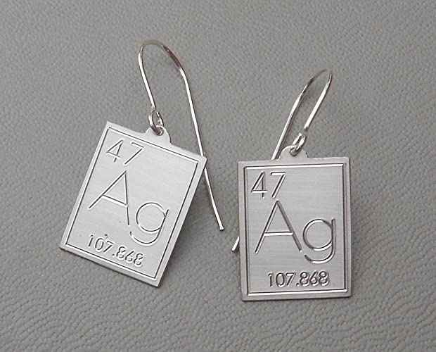 Amazon Atomic Symbol For Silver Earrings Periodic Table Of