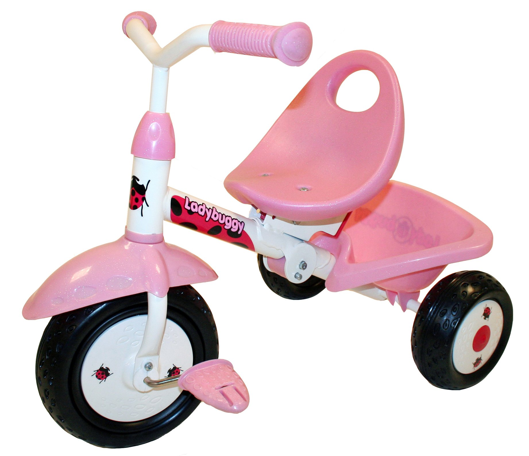 Kettler Kiddi-o by Fold 'n Ride Trike with Adjustable Seat: LadyBuggy, Youth Ages 1.5+