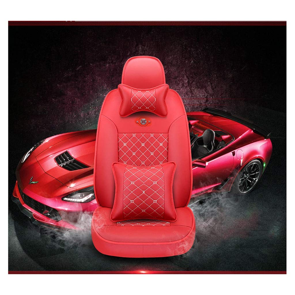 GYWcars Universal Fit Car Seat Cover,Suitable for All Seasons,Waterproof Non-Slip,Resistant to Dirt,Covers Protectors,Easy Cleaning-for All Cars,Trucks,SUV,Red (Color : B)