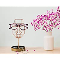 storeindya Thanksgiving Gifts Face Sculpture Wired Metal Mesh Spectacle Eyeglass Holder
