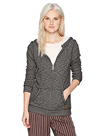 ae5def89c5de7 Roxy Women s Trippin Zip Up Hoodie Anthracite Heather L   Sunlotion Bundle  at Amazon Women s Clothing store